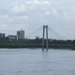 Вантовый мост с Енисея
