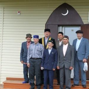 Фото на память. Прихожане новой мечети в с.Пировское