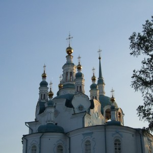Купола Успенского Собора. Енисейск