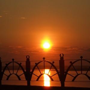 Закат в Енисейске