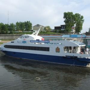 Новое судно «Михаил Годенко» прозванный местными жителями «шайтан» за высокую, резвую волну, которая выносит на берег даже крупные катера.