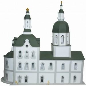 Макет Троицкой церкви