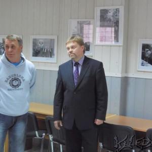 А.Белоногов и В.Нелюбин в Доме журналиста