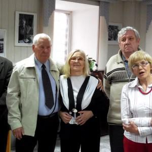 Ветераны красноярской журналистики на открытии выставки. Фото Геннадия Каледы