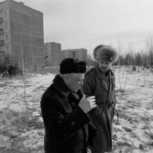 В. Нелюбин и В.П. Астафьев. Фото Анатолия Белоногова