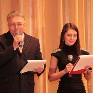 Ведущие Алина Кочерженко и Рим Муллаянов - очень приветливы...