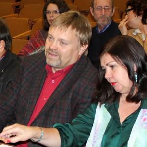 В жюри: председатель краевого Союза журналистов Василий Нелюбин и секретарь Союза Галина Захаренко