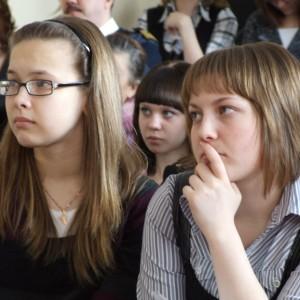 На творческой встрече с режиссером фильма, п. Подтесово, шк.№46, март 2011