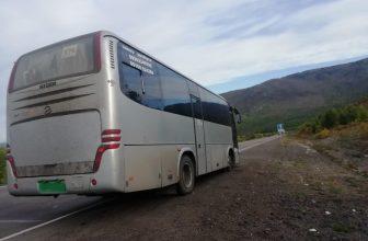 Неизвестные остановили автобус с журналистами